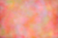 Jesień Zamazanego spadku Abstrakcjonistycznego jesiennego tła kolorowi liście i słońce Obrazy Royalty Free