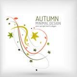 Jesień zawijas, roślina i liście minimalni, Obraz Royalty Free