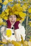 Jesień zdziwiona dziewczyna obrazy royalty free