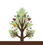 jesień abstrakcjonistyczny drzewo Obrazy Royalty Free