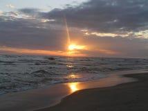 jesień Baltic wieczór morza zmierzch Fotografia Royalty Free