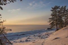 jesień Baltic wieczór morza zmierzch Zdjęcie Stock