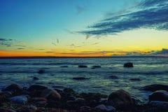 jesień Baltic wieczór morza zmierzch Zdjęcie Royalty Free
