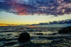 jesień Baltic wieczór morza zmierzch Zdjęcia Stock