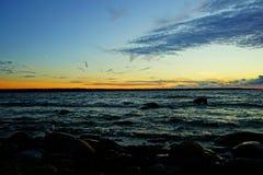 jesień Baltic wieczór morza zmierzch Fotografia Stock