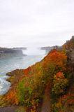 jesień banka rzeka Fotografia Royalty Free