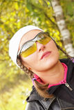jesień beaty lasowy dziewczyny portret Zdjęcia Royalty Free