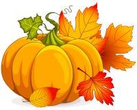 jesień biel odosobniony dyniowy Zdjęcia Royalty Free