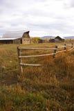 jesień budynków gospodarstwa rolnego ogrodzenia stary western Obraz Royalty Free