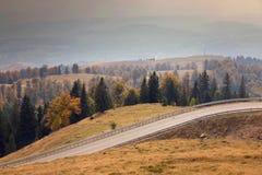 jesień Crimea halny drogowy Ukraine Zdjęcia Stock