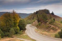 jesień Crimea halny drogowy Ukraine Zdjęcie Stock
