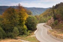 jesień Crimea halny drogowy Ukraine Fotografia Royalty Free