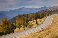 jesień Crimea halny drogowy Ukraine Obraz Stock