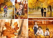 Jesień czasu kolaż Obrazy Royalty Free
