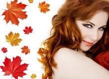 jesień dama Zdjęcia Royalty Free