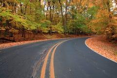 jesień droga Obrazy Royalty Free
