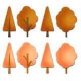 jesień drzewa akwarela Obraz Stock