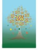 Jesień drzewo ilustracji