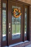 jesień drzwi Zdjęcia Royalty Free