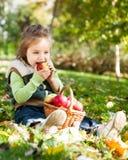 jesień dziecka park Obraz Royalty Free