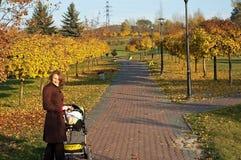 jesień dziecka spacer Zdjęcia Stock