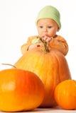 jesień dziecko Zdjęcia Royalty Free