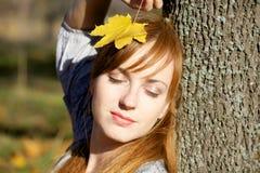 jesień dziewczyna Obrazy Royalty Free