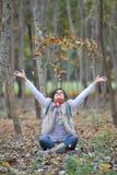 jesień dziewczyna Obraz Royalty Free