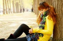 jesień dziewczyna Zdjęcia Royalty Free