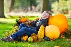 jesień dziewczyny bania Zdjęcia Stock