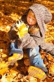 jesień dziewczyny park Zdjęcia Royalty Free