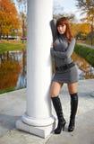 jesień dziewczyny park Obrazy Stock