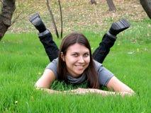 jesień dziewczyny parka potomstwa Obrazy Stock