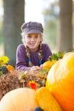 jesień dziewczyny plenerowa bania Zdjęcie Royalty Free