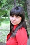 jesień dziewczyny portret fotografia stock