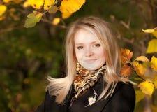 jesień dziewczyny portret Zdjęcia Stock