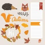 Jesień elementy Zdjęcie Stock
