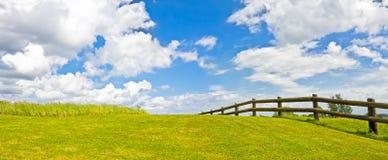 Jesień gazonu panorama Zdjęcia Royalty Free