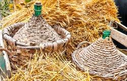Jesień gęsiorka wicker Zdjęcie Royalty Free