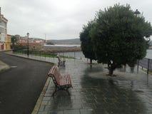 Jesień Hiszpania Finisterra Fisterra Banki pod deszczem Fotografia Royalty Free