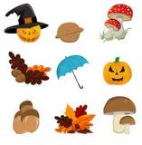 jesień ikony set Obrazy Stock