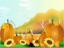 jesień ilustraci krajobrazu wiejski wektor Obrazy Stock