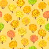 jesień ilustraci wzoru bezszwowy drzew wektor Zdjęcie Royalty Free