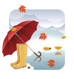 Jesień - ilustracja Zdjęcia Royalty Free