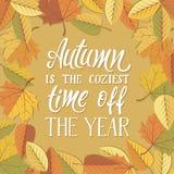 Jesień jest coziest czasem rok! Obraz Stock