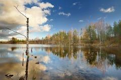 Jesień jeziora krajobraz Obraz Stock