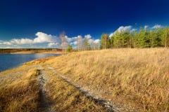 Jesień jeziora krajobraz Zdjęcia Royalty Free