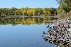 Jesień jeziora krajobraz w Kolorado fotografia royalty free