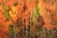 Jesień jeziora odbicie Fotografia Royalty Free