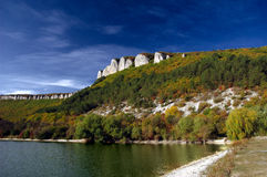 jesień jeziora scena Obraz Royalty Free